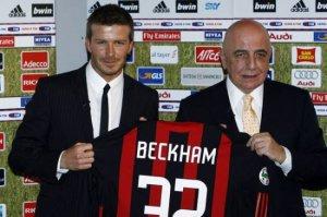 Beckham deve continuar no Milan. fonte: google.com