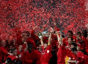 Liverpool comemorando o Champions League - fonte: google.com