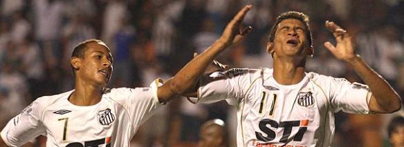 Os novos meninos da vila Neymar e Paulo Henrique - fonte: globoesporte.com