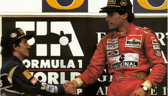 1993 - Prost e Senna, Austrália, pódio