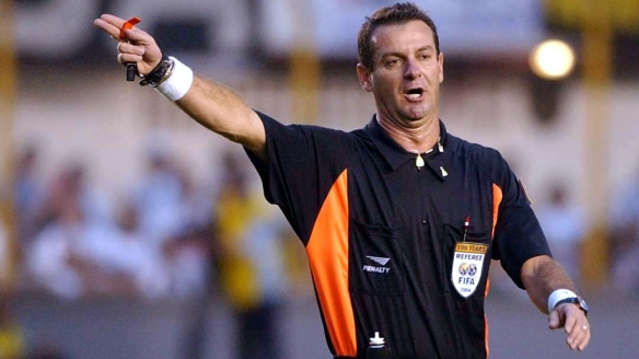 Brazilian soccer referee Edilson Pereira de Carvalho is seen during a Brazilian championship game in Sao Paulo in this undated file photo. Carvalho was arrested Saturday, Sept. 24, 2005 a day after the newsweekly Veja reported on a federal investigation into a corruption scheme run by Internet betting sites. Carvalho allegedly was paid to